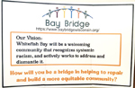 Sign addressing racism, created by Bay Bridge Wisconsin