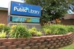 Sign outside Craighead County (Ark.) Jonesboro Public Library