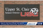 Screenshot from WTAE-TV of Upper St. Clair School District sign