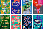 Eight brightly colored book covers that look remarkably similar
