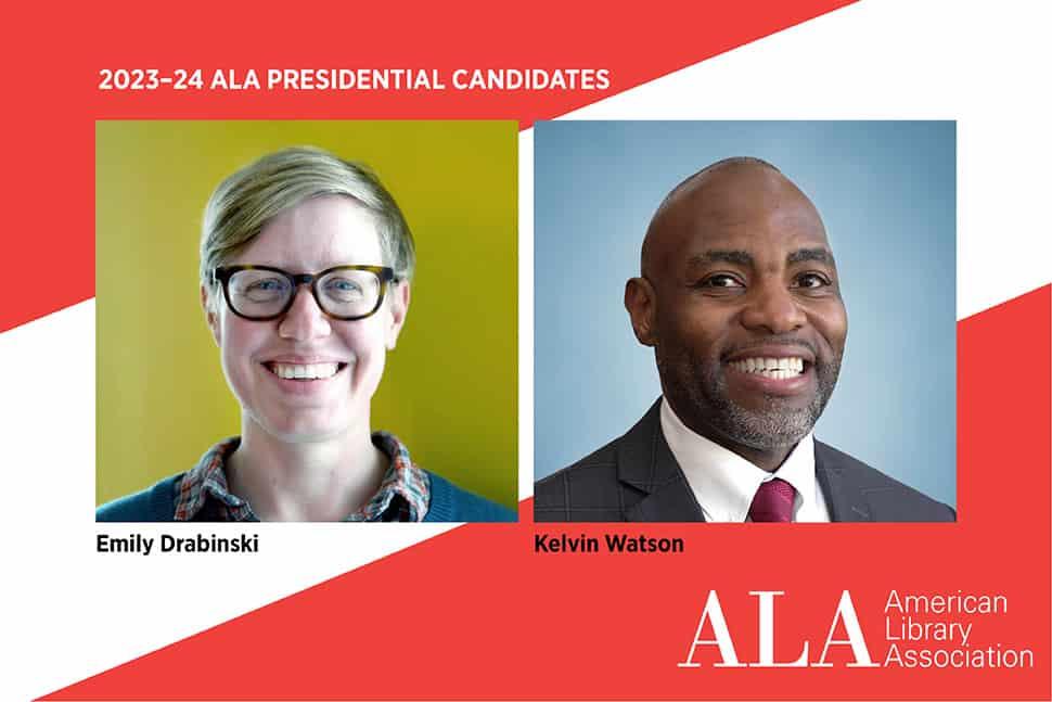 ALA Presidential Candidates Emily Drabinski and Kelvin Watson