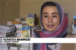 Screenshot of Afghan library owner Homeira Nawrozi